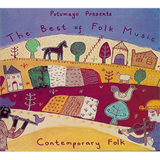 Album cover for The Best of Folk Music - Contemporary Folk