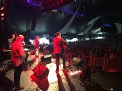 On stage from the side at Port Fairy 2016
