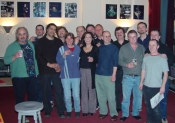 The band and crew of the Dutch Tour 2002